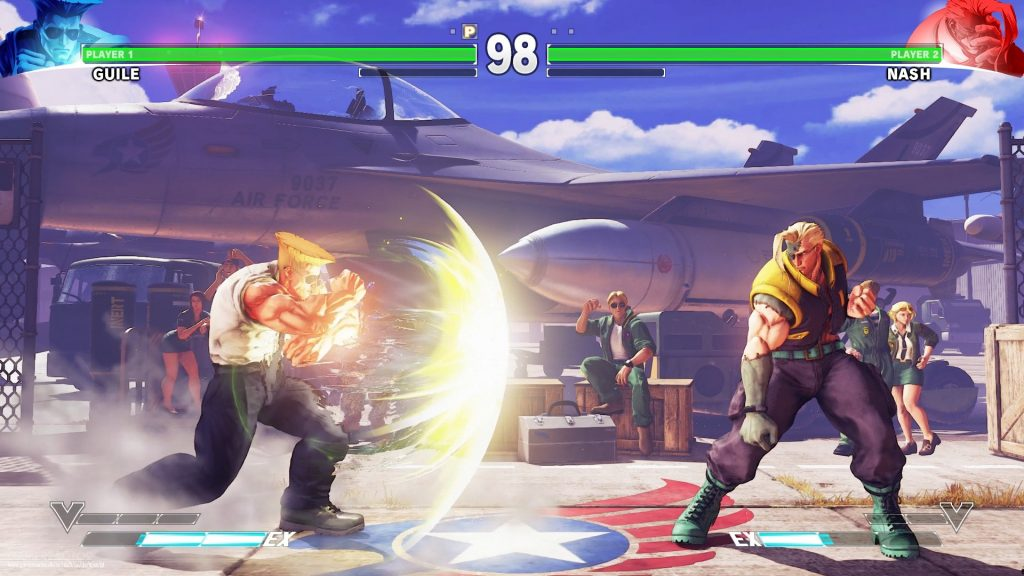 Street Fighter 5 characters fighting