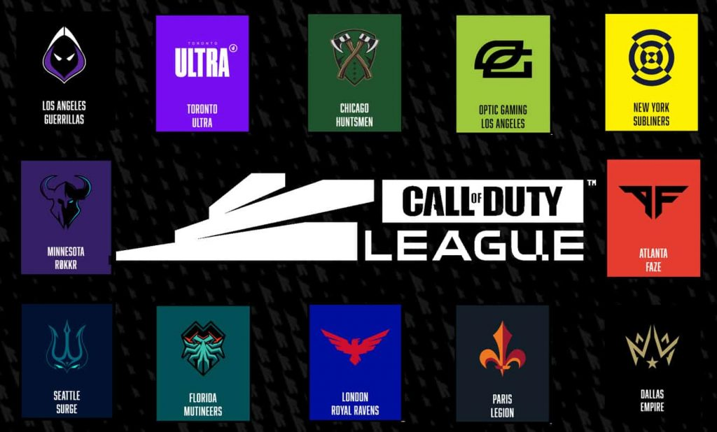 call of duty league 2020 participating teams