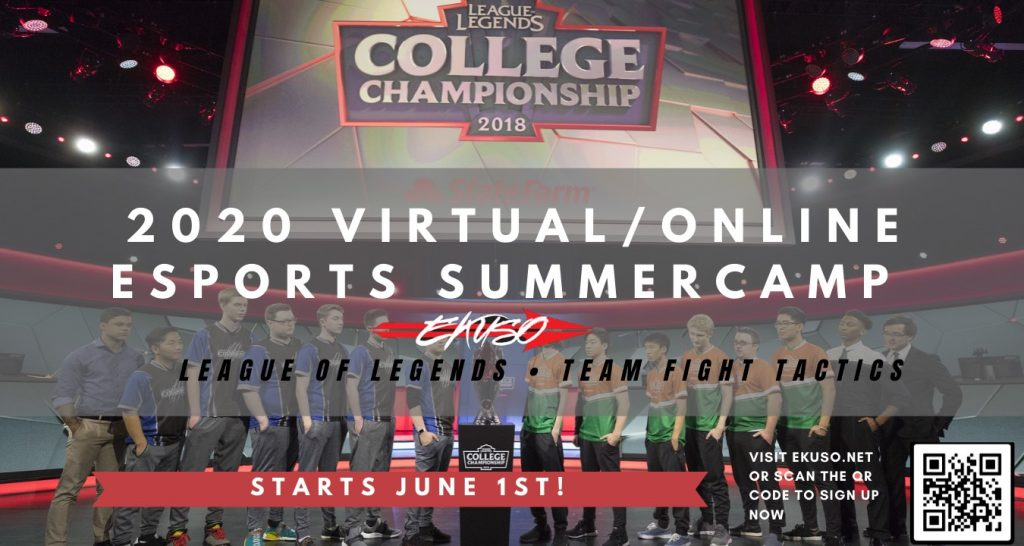 LOL summer school advert and college championships