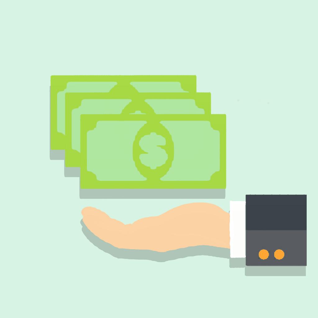 cash payment clipart