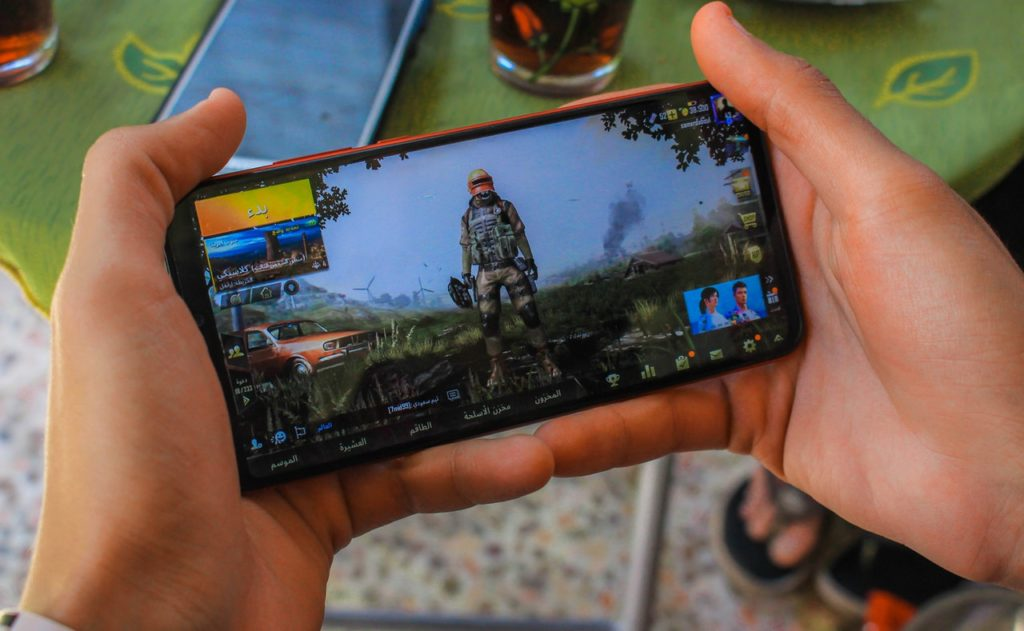 PUBG mobile being played